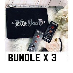 Kat Von D X 3 Bundle Makeup Bag/ Studded Lipstick